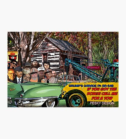 Grump's Garage II Photographic Print