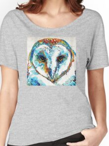 Colorful Barn Owl Art - Sharon Cummings Women's Relaxed Fit T-Shirt