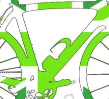 Bike Flag United Kingdom (Green - Big) Sticker