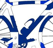 Bike Flag United Kingdom (Blue - Big) Sticker