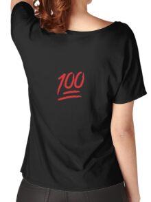 Keep It 100 Emoji. Straight Fire. Funny Emoji Leggings Tshirt. iDubbbz TV. Women's Relaxed Fit T-Shirt