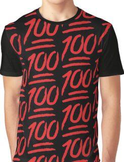 Keep It 100 Emoji. Straight Fire. Funny Emoji Leggings Tshirt. iDubbbz TV. Graphic T-Shirt