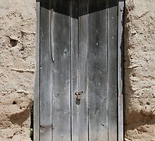 Gray Weathered Wooden Door by rhamm