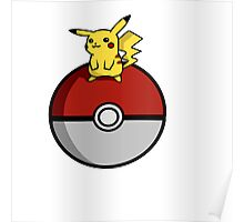 Pikachu Pokeball Poster