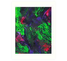 Vibrant Abstract Swatch Painting Art Print
