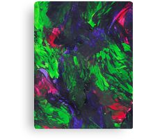 Vibrant Abstract Swatch Painting Canvas Print