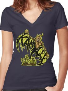 KAM LEE - RISE FROM DEATH Women's Fitted V-Neck T-Shirt