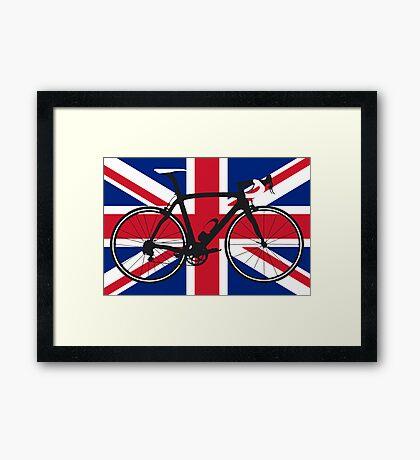 Bike Flag United Kingdom (Big - Highlight) Framed Print