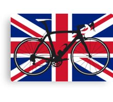 Bike Flag United Kingdom (Big - Highlight) Canvas Print