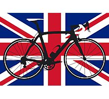 Bike Flag United Kingdom (Big - Highlight) Photographic Print