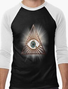 The eye that sees everything illuminati pyramids Men's Baseball ¾ T-Shirt