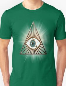 The eye that sees everything illuminati pyramids Unisex T-Shirt