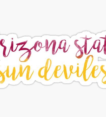 Arizona State University Sun Devils Watercolor Sticker