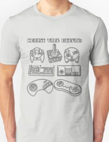 Retro Gamer - Choose Your Weapon (Control Pad) T-Shirt