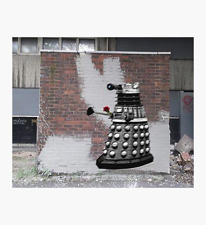 Dalek Graffiti - Banksy Style Photographic Print