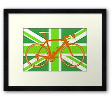 Bike Flag United Kingdom (Green) (Big - Highlight) Framed Print