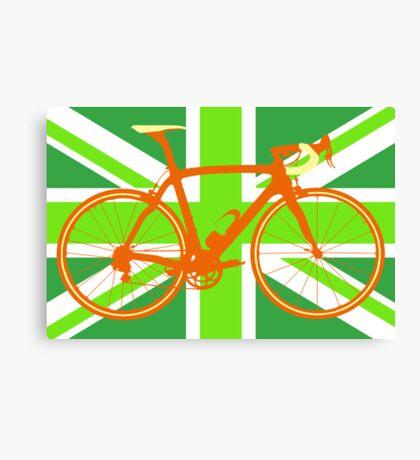 Bike Flag United Kingdom (Green) (Big - Highlight) Canvas Print