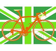 Bike Flag United Kingdom (Green) (Big - Highlight) Photographic Print