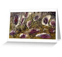 Silk Paint Blossoms Greeting Card