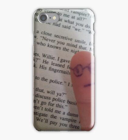 Finger guy reads iPhone Case/Skin