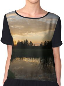 Hot Summer Sunset at the Farm Chiffon Top