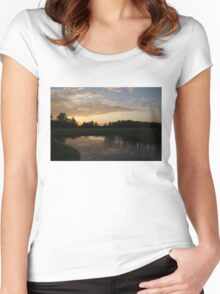 Hot Summer Sunset at the Farm Women's Fitted Scoop T-Shirt