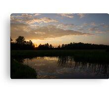 Hot Summer Sunset at the Farm Canvas Print