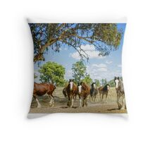 Mare in Field Throw Pillow