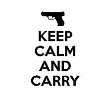 Keep Calm and Carry 2nd Amendment Shirt and Sticker Photographic Print