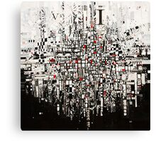 Abstract Black & White Canvas Print