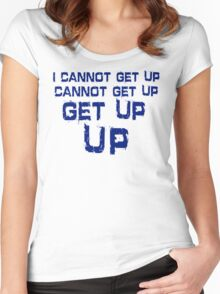 get up blue Women's Fitted Scoop T-Shirt