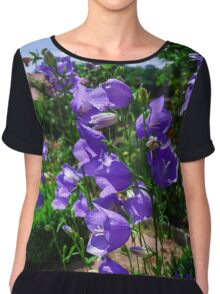 Botanic garden with blossom flowers, Andlau, Alsace, France Chiffon Top