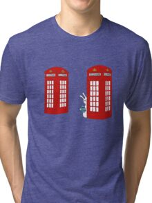 London Telephone Box and A Bunny Tri-blend T-Shirt