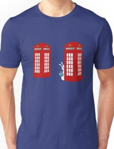 London Telephone Box and A Bunny Unisex T-Shirt