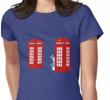 London Telephone Box and A Bunny Womens Fitted T-Shirt