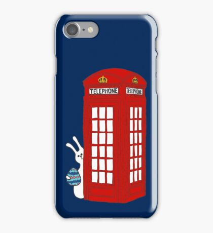 London Telephone Box and A Bunny iPhone Case/Skin