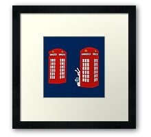 London Telephone Box and A Bunny Framed Print