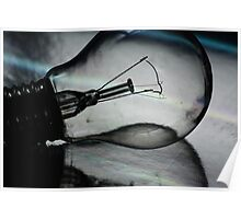 Light (bulb) and reflection Poster