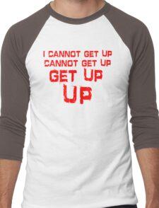 get up red big Men's Baseball ¾ T-Shirt