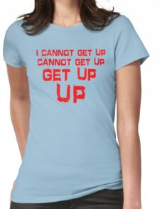 get up red big Womens Fitted T-Shirt