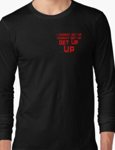 get up red small Long Sleeve T-Shirt