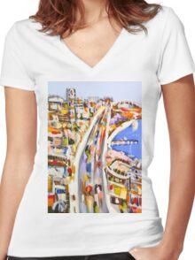 Morning rush Women's Fitted V-Neck T-Shirt