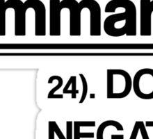 Double Negatives No-No Sticker
