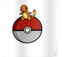 Charmander Pokeball Poster