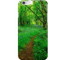 Footpath through the Woods iPhone Case/Skin