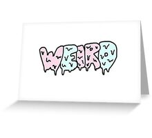 Weird Typography Greeting Card