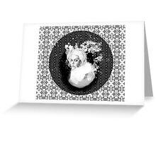 girl & skeleton patterns VII Greeting Card
