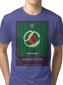 Wimbledon 2016- Strawberry and Cream } In Pursuit To Greatness  Tri-blend T-Shirt