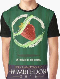 Wimbledon 2016- Strawberry and Cream } In Pursuit To Greatness  Graphic T-Shirt