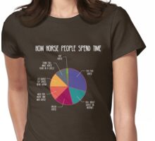 How Horse People Spend Time (Dark) Womens Fitted T-Shirt